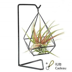 MEUBLE SUPPORT PLANTE  Porte pot de fleur Fer forgé géométrique
