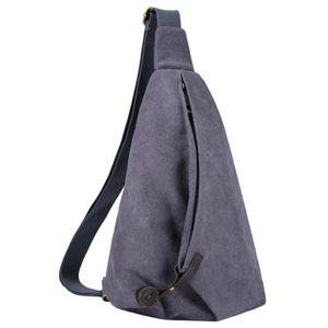 f2dae4c1ac Sac à bandoulière, Coofit sac de sport en toile sacoche petit sac à dos  pour courir sac de sport homme femme garçons filles (Gris)