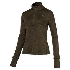 a20e928b60c36 VESTE SPORT DE COMBAT Sweat 1/2 zip femme Puma Run