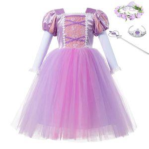 DÉGUISEMENT - PANOPLIE Élégant Filles de Raiponce Cosplay Costume Enfants