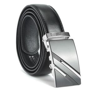 TEMPSA Classique pour homme en cuir ceinture taille ceinture sangle boucle  automatique Argent Noir - Achat   Vente ceinture et boucle 6296623042716 -  ... 995cc08330d