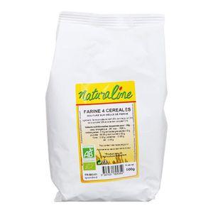 FARINE - FÉCULE MOULIN DES MOINES Farine 4 céréales et soja bio -