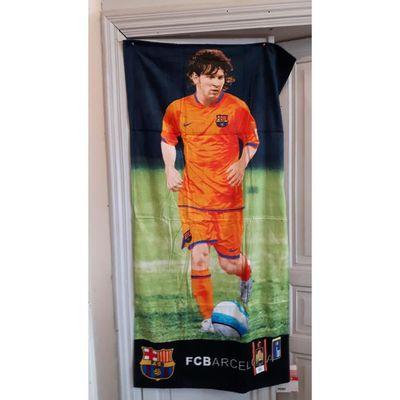 7a92bc44048fa5 Barca Leo Messi FC Barcelone Serviette Plage - Achat   Vente ...