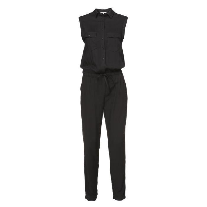 DEELUXE - Combinaison Pantalon Ajustée Noire Sans Manches