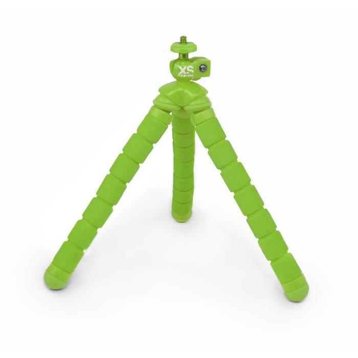 XSORIES Mini Trépied Flexible pour Caméra d'Action Bendy - Vert