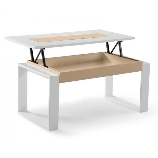 Table Basse Elevable Colours Largeur 96cm Profondeur 50cm