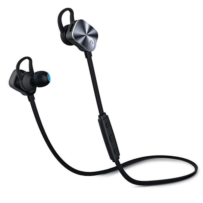 Mpow Casque Bluetooth Sport Wolverine De Stéréo Écouteurs Intra-auriculaires Sans Fil Oreillette Avec Suppres