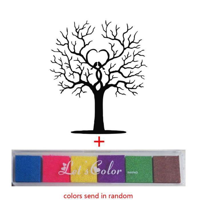 40 60cm diy signature de mariage arbre d 39 empreintes. Black Bedroom Furniture Sets. Home Design Ideas
