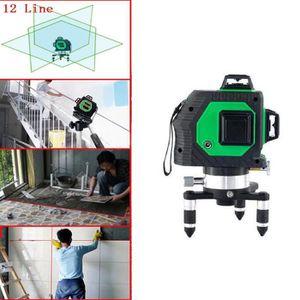NIVEAU - FIL A PLOMB Niveau laser vert nivellement auto 12 lignes à 360