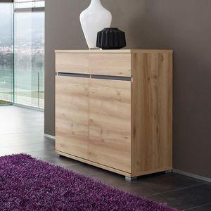 BUFFET - BAHUT  Buffet 2 portes 2 tiroirs en bois Longueur 96 cm L