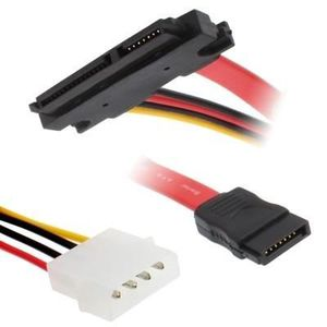 CÂBLE E-SATA Câble d'alimentation de données SATA 15 + 7 broche