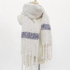 ECHARPE - FOULARD grand foulard épais et chaud écharpe bleu-blanc ca 227003f1205
