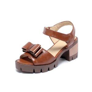 SANDALE - NU-PIEDS Nouveau Sandales à talons Femme Chaussure-tête de 629784c597ad