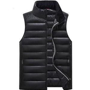 754c5f0538fd Gilet Doudoune chaud sans manche col montant casual multicolore fermeture  par zip mode uni nouveau vêtement automne hiver