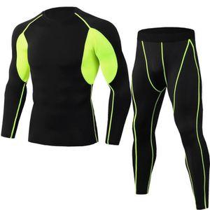 CYCLISTE DE RUNNING Collants de sport longs pour hommes Quick drying c