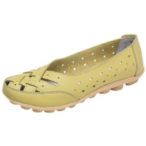 MOCASSIN Chaussures femme Lady Flats Sandales en cuir chevi
