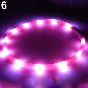 HARNAIS SPORT DE CHIEN Rose USB rechargeable LED bande de lumière clignot