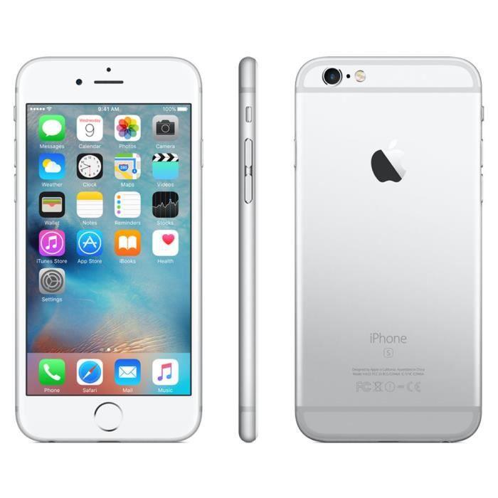 IPhone 6s Argent 16 Go reconditionné grade A++ Premium - Achat ... a3e93f8edab1