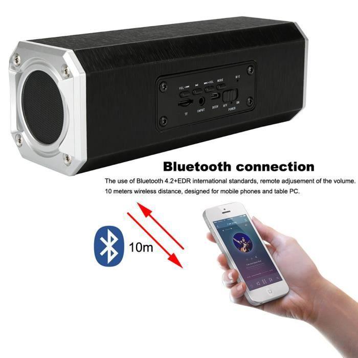Portable Haut-parleur Sans Fil Bluetooth Double Super Bass Usb De Charge