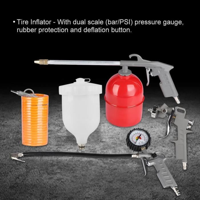 COMPRESSEUR AUTO Kit accessoires pour compresseur d'air (pistolet d