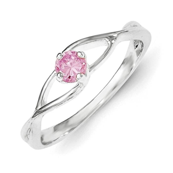 Argent Sterling Zircone Rose-N Sol Taille 1/2–JewelryWeb