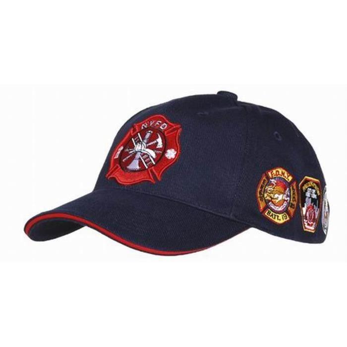 00085beb4aec6 Casquette Baseball des Pompiers Américains New York Fire Bleu ...