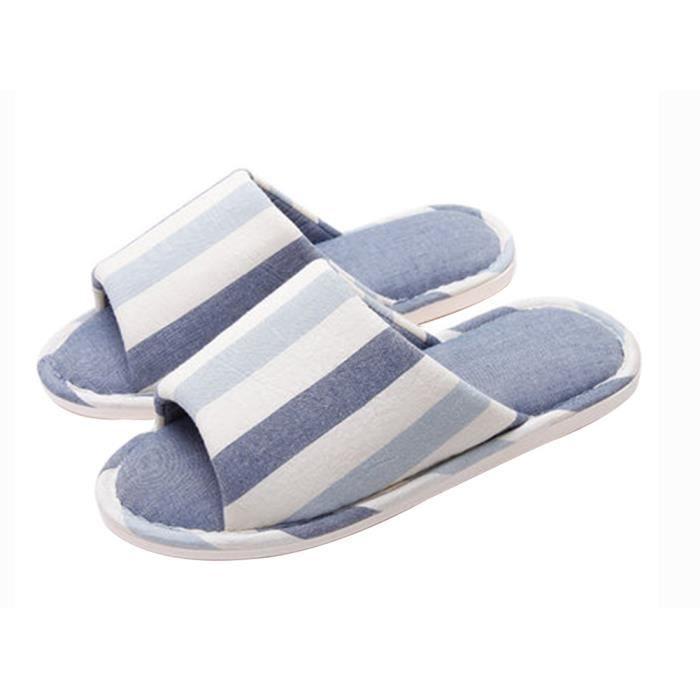 Made Bleu Le Skidproof By Cotton Style De 1 Pantoufles Simple qr8Bq