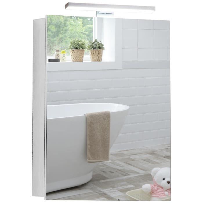 Armoire de toilette pour salle de bain avec miroir - Glace de salle de bain avec eclairage ...