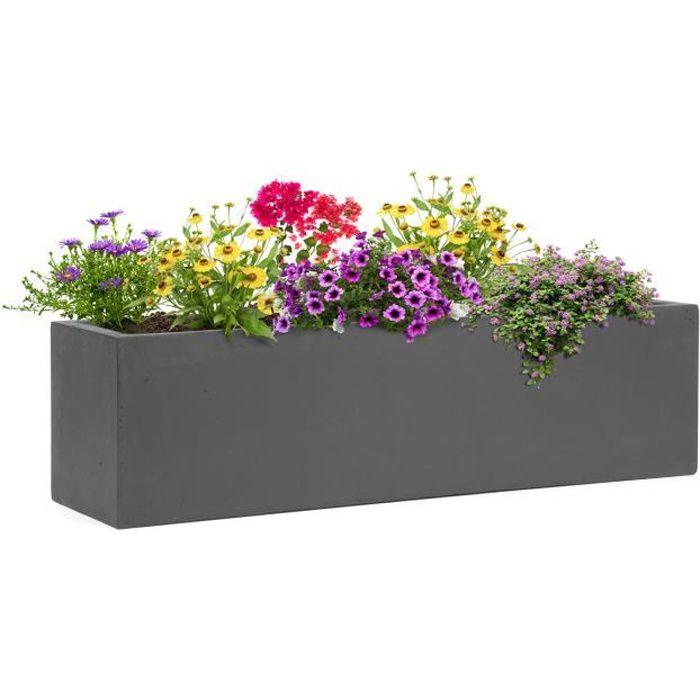 Bac A Fleurs Exterieur Beton blumfeldt solidflor - bac à plantes jardinière - 75 x 20 x 20 cm