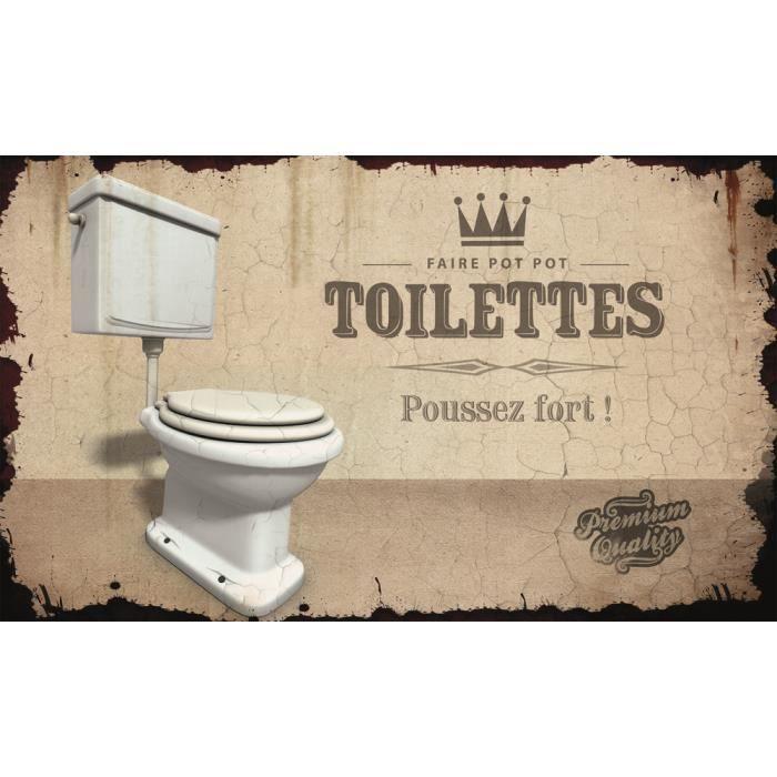 Plaque de porte m tal original esprit vintage toilettes class deco achat vente plaque de - Plaque de porte design ...
