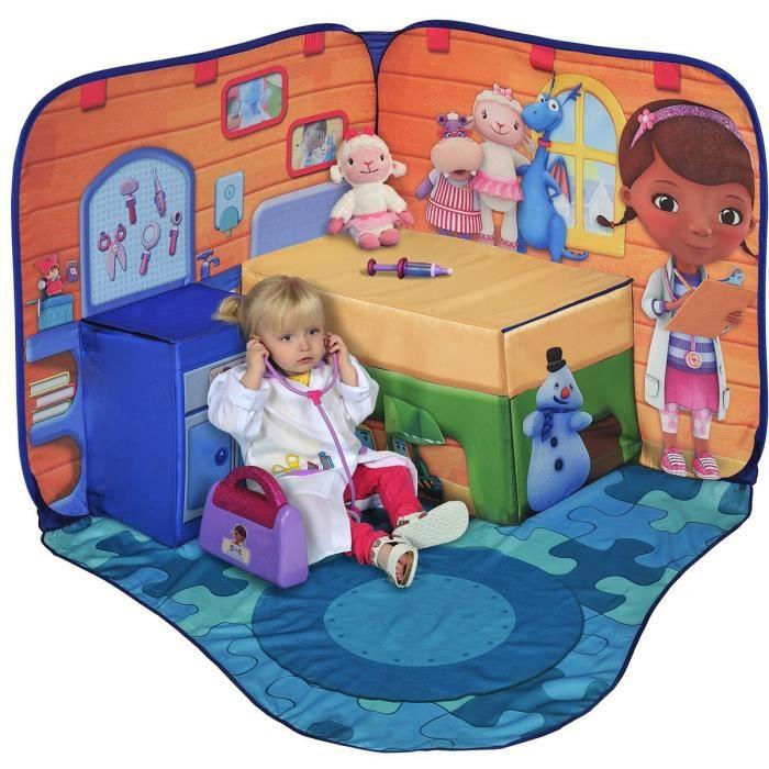 tente de jeux 3d docteur la peluche disney achat vente tente tunnel d 39 activit cdiscount. Black Bedroom Furniture Sets. Home Design Ideas