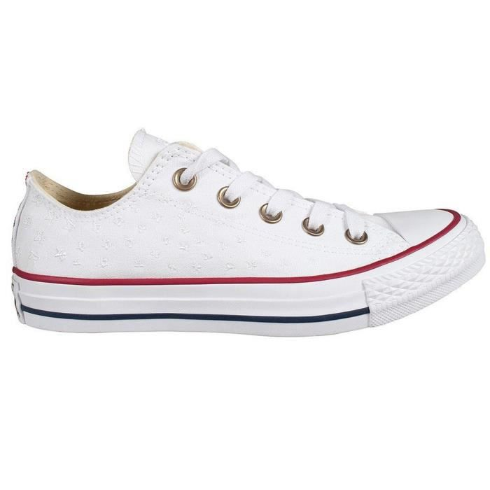 Converse Womens Chuck Taylor All Star Low Sneakers White-casino-white Womens ULQQC Taille-39 1-2