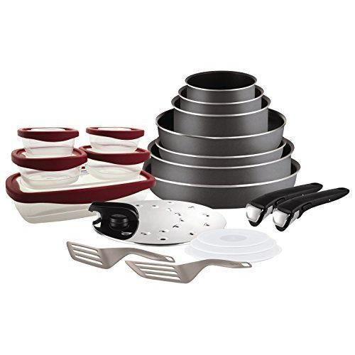 9991ea62035a7 Tefal L2049102 Set de poêles et casseroles - Ingenio 5 Essential Gris  Anthracite 20 Pièces - Tous feux sauf induction