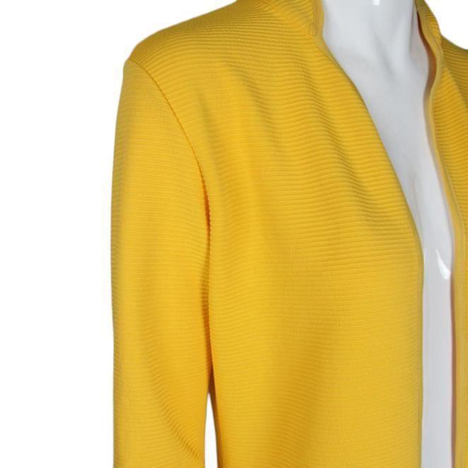 Hauts Manches Veste nbsp;jaune Outwear Longues Manteau Cardigan dqaaEg