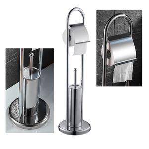 Le porte rouleau brosse wc achat vente le porte for Ensemble brosse wc porte papier