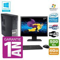 UNITÉ CENTRALE + ÉCRAN PC Dell 790 DT Intel G630 4Go Disque 500Go Graveur