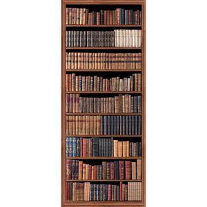 PLAGE Panneau en intissé Panoramique - Biblioth?que d?antan240x98cm