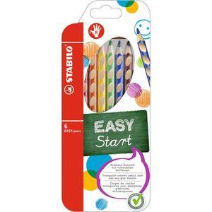 STABILO EASYcolors droitier - Etui carton - lot de 6 crayons de couleur