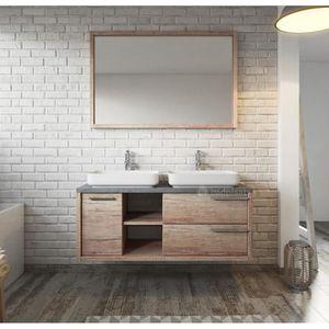 Meuble de salle de bain Vermont 120cm lavabo nature wood ...