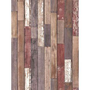 PAPIER PEINT Bois Papier peint naturel Planks Beaux Décor FD408