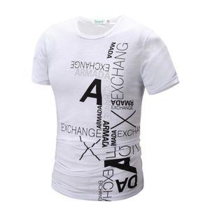 T-SHIRT T shirt Homme col rond de marque luxe pas cher en