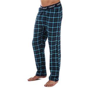PYJAMA Pantalon Farah Hamer Flannel pour homme en bleu ma 02527c941d7