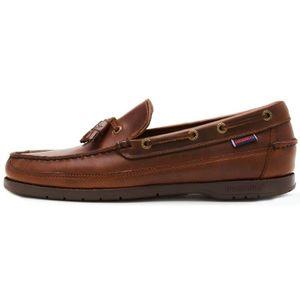 MOCASSIN Chaussures Sebago Ketch FGL en cuir ciré huilé Moc