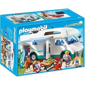 UNIVERS MINIATURE PLAYMOBIL 6671 Famille avec Camping-Car