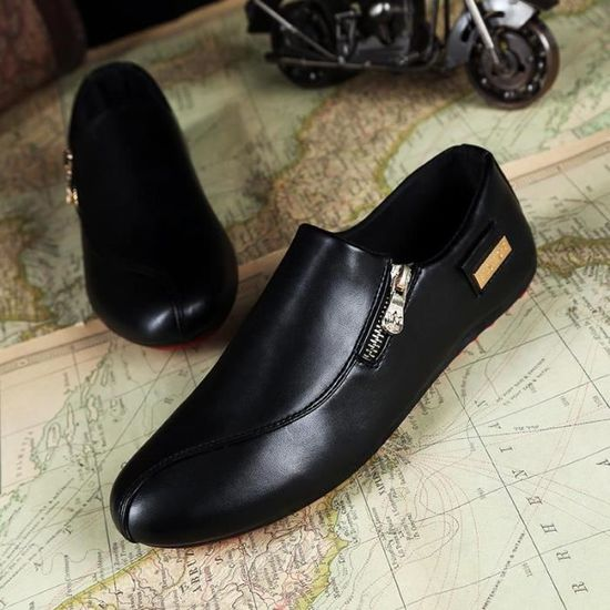 Mode Hommes Chaussures Casual Pois Chaussures M...  Noir - Achat / Vente slip-on