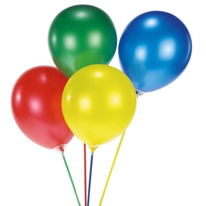 AMSCAN Lot de 15 Tiges colorées en plastique pour ballons