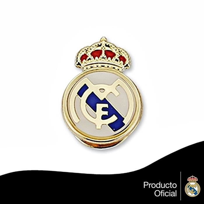 Pin écusson Real Madrid or massif 9k émail