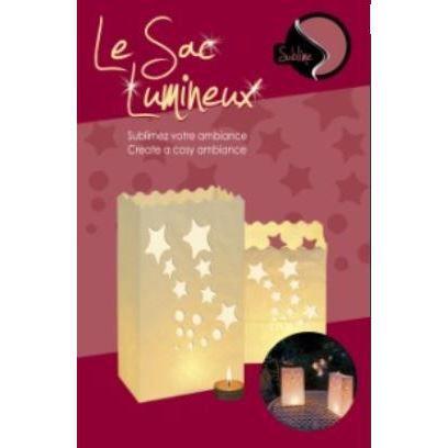 d coration lumineuse sac photophore nuit d 39 ete achat vente photophore lanterne cdiscount. Black Bedroom Furniture Sets. Home Design Ideas