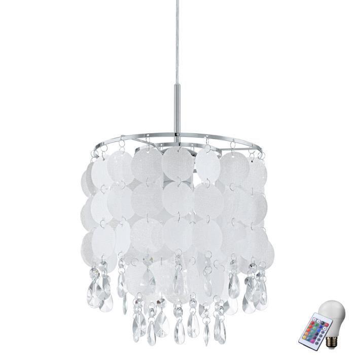 Foil Cristal Incluse Suspendue Télécommande Rgb Ampoules Led Lampe Dans Suspension L'ensemble MSVzpU