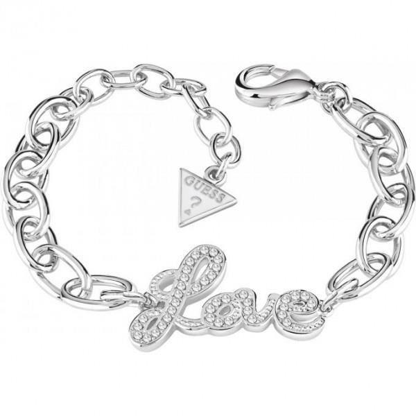 Guess Bracelet Blazing Love métal rhodié UBB82078